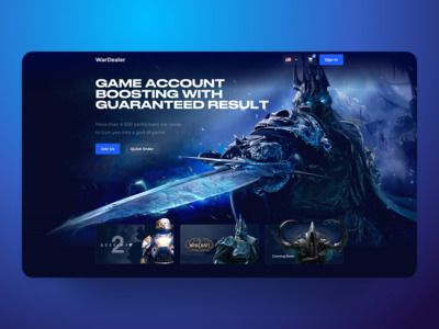 War Dealer Lich King Gaming Landing Page