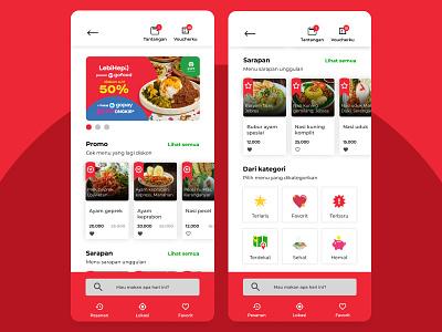 Redesign Gofood uiuxdesigner uiuxdesign android design android app ux uiux ui mobiledesign mobileapp mobile frontend figmadesign figma design apple app android