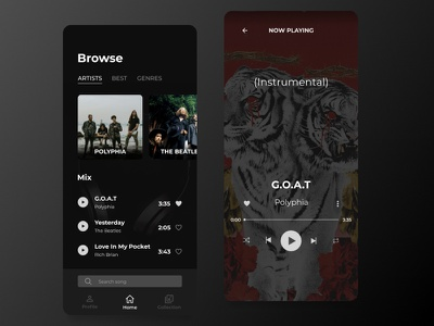 Music Streaming frontend figmadesign figma android apple app