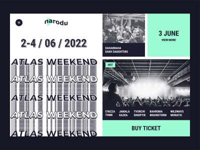 Main page for Music Fest logo design typography website ux branding brutalism fest festival ui