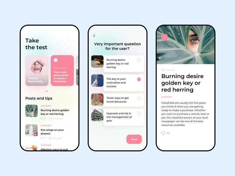 Personal stylist app stylish style fashion interface design minimal ux flat clean ui