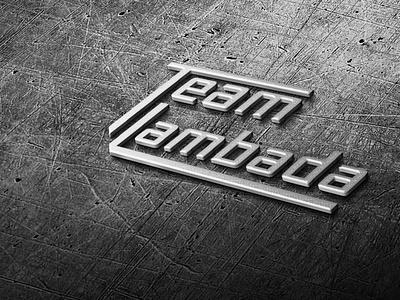 Logo Team Lambada 3d modeling team racing car sports iron