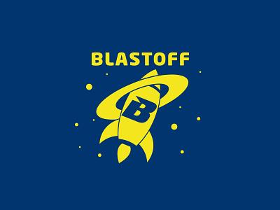 Blastoff science rocket launch illustration logo