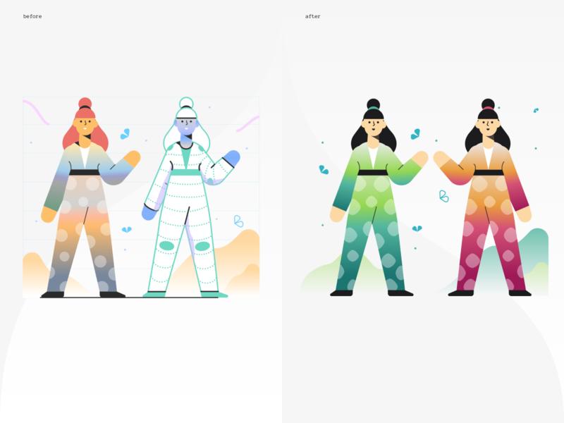 Rumbleship Dashboard - Illustration before after marginalia icons8 illustration financial