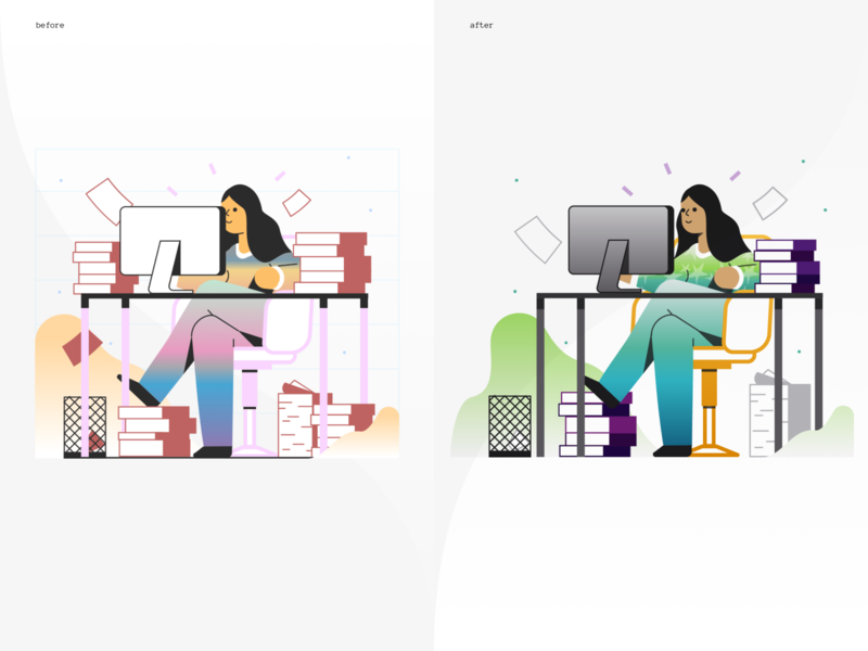 Rumbleship Dashboard - Illustration marginalia illustration icons8 financial before after