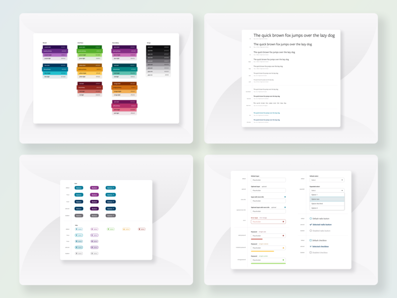 Gemini Design System form type scale color palette button design system library component library system design component ux ui