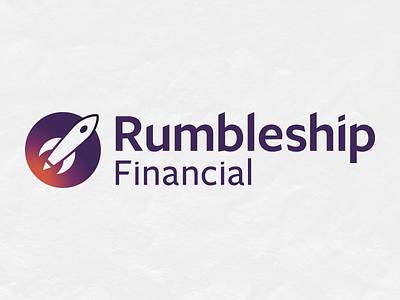 Rumbleship Logo Refresh refresh gradient ship rocket logo financial branding