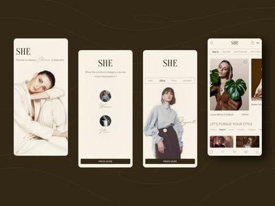 Fashion App greatdesign women fashion design fashion app fashion app app design ux mobile ui ui minimal