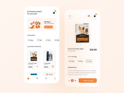 Pet Shop & Product App UI dribbbler figma design user interface application uxinspiration uiinspiration food pet figma uiux trend popular design designer ui minimal dribble shot design app design app