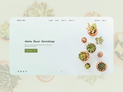 Plants Shop landing page landingpage website web design design ui