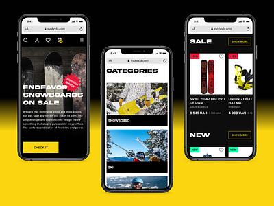 E-Commerce Website mobile website shop e-commerce design