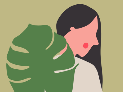 Women leaf