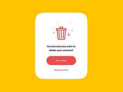 Pop-up for Delete clean figma web design typography minimalistic ux ui component ui card design