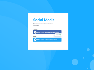 Social Media Card minimalistic ui figma design clean card