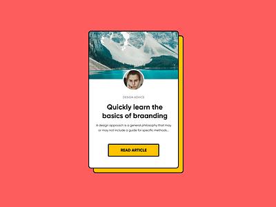 UI card dribbble component popular web design minimalistic design ui figma clean card