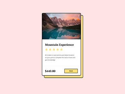 UI Card ui element component ui kit dribbble popular mountain web design minimalistic ui card figma design clean