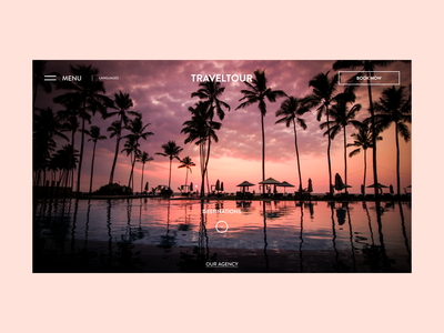 Start Page for Travel Agency start page creative unique ux uxui website inspiration dribbble popular travel agency travel branding illustration web design minimalistic ui card figma design clean