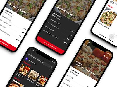 Food App Concept vietnam hanoi ux ui designer mobile app design food app