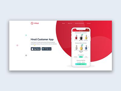Landing page website - Nails landing page management system ui ux ux ui designer hanoi mobile app web design