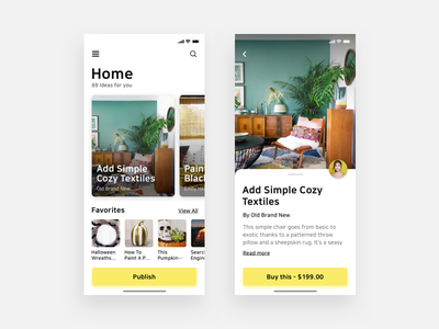 Decor Ideas Mobile App ui ui ux illustration web design mobile app ux ui designer hanoi mobile app design