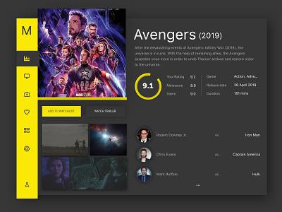 Movies Dashboard movie app ui ux web design ux ui designer hanoi mobile app