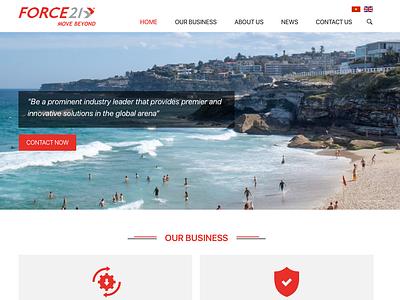 Force21 website ui ux ux ui designer hanoi web design