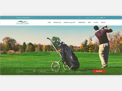 Flc Golf Links golf ui ux ux ui designer hanoi web design