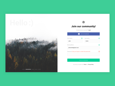 Sign Up Form ui ux ux ui designer hanoi web design