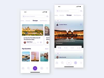 Travel video app video app travel app ui ux mobile app design mobile app ux ui designer hanoi