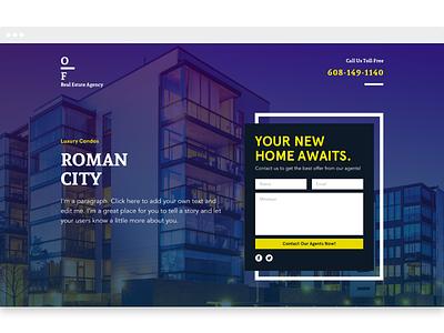 Real Estate Agency ui ux web design ux ui designer hanoi