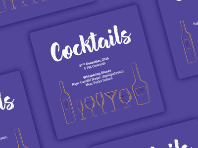Cocktail Party Invite arkwerk alcohol wine beer drinks cocktails invite indian wedding wedding invite design