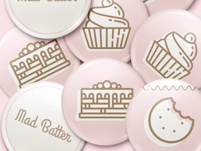 Pin Badges! sweet bakery cookies fudge cupcakes cakes pin badge