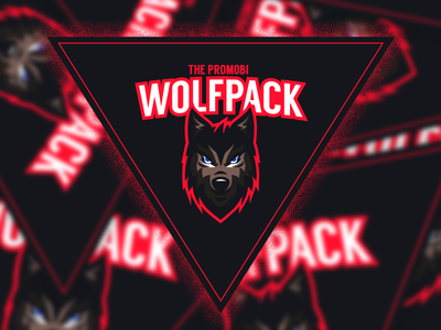 Wolfpack Stickers mockup design sticker stickers wolfpack wolf