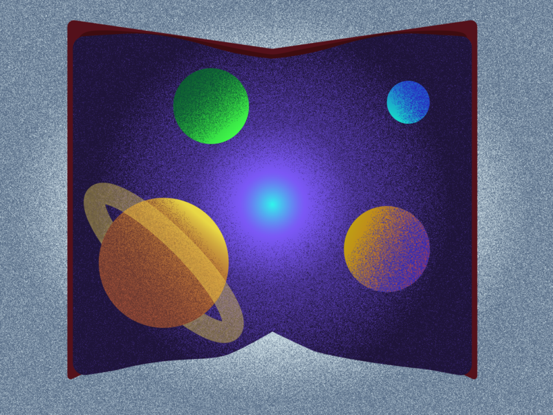 Galaxy Book illustrator galaxy book vector illustration