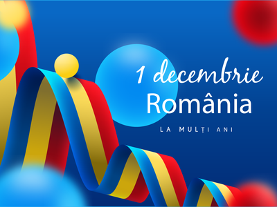 Great union day design illustration tricolor colorfull romania 3d object illustrator