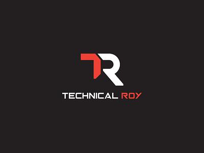 Technical Roy TR Logo Design. design vector logo illustration