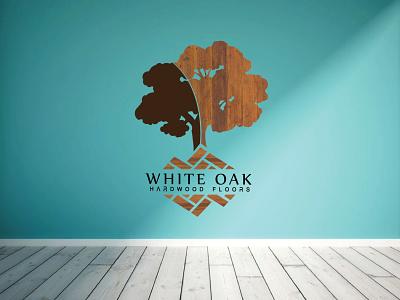 White oak hardwood floors Logo Design. design branding vector logo illustration