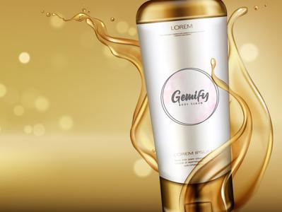 Gemify Body Scrub Logo Design. vector logo illustration