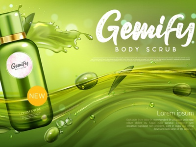 Gemify Body Scrub logo Design. vector logo illustration