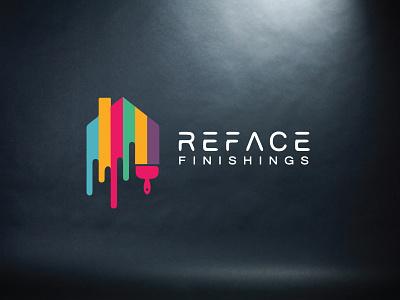 Reface Finishing's Logo Design. logo vector illustration