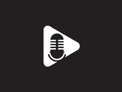 Podcast Logo Design. vector logo illustration