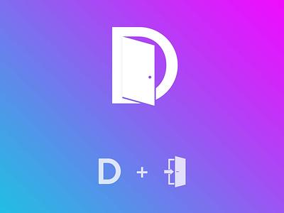 D + Door Logo Concept vector logo illustration