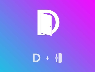 D + Door Logo Concept vector logo illustration