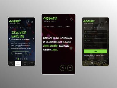 Web Design | Chilangos ui design uidesign uiux ui web designer brand identity branding design web design web webdesign landing page design landing page landing