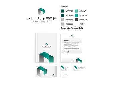 Branding desing | Allutech isotipo logotype branding illustrator brand identity brand design brand logodesign logo design logos logo