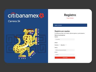 Web design | Citibanamex carrera branding ui design ui  ux website web design web landing page design website design ui ux landing page