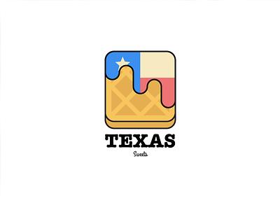 Texas Sweets logo waffle