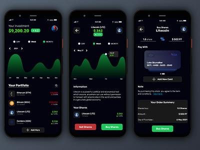 Crypto App app ui