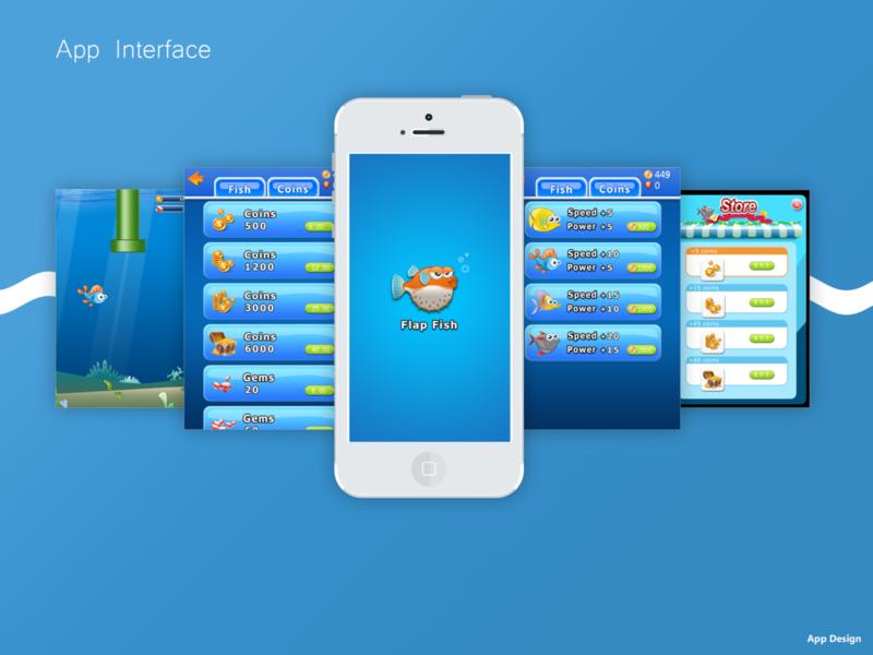 Flappy Fish app ui