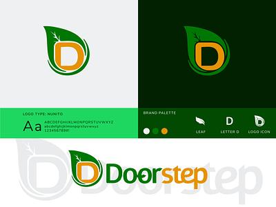 Illustration_Doorstep Logo eco nature food green lettering leaf logo adobe branding typography illustration art vector creative logo designoftheday illustration design
